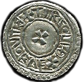 Reverse of Aethelstan coin.